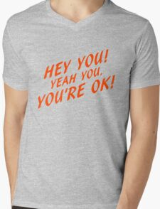 Hey you Mens V-Neck T-Shirt