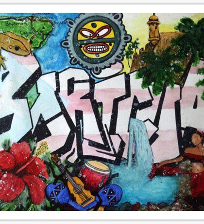 """Boricua"" Graffiti Painting Sticker"