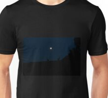 Silhouette of Kangaroos with Full Moon Unisex T-Shirt