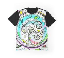 Brain L-R Harmonizer Mandala blue Graphic T-Shirt