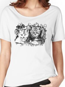 Baby Cats in the Garden Women's Relaxed Fit T-Shirt