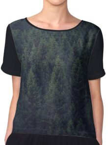 Deep In The Woods Chiffon Top