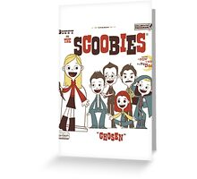 Buffy And The Scoobies Greeting Card