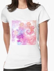 Cotton Candy - Abstract Fractal Artwork Womens Fitted T-Shirt
