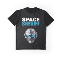 Space Sheriff - Distressed Graphic T-Shirt