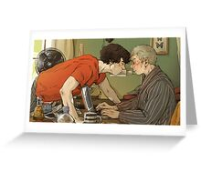 BBC Sherlock: A hot summer afternoon Greeting Card