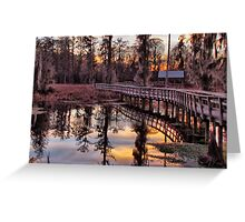 Twilight Sparkles over Cattail Trail Greeting Card