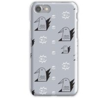 Birds and eyes steel blue iPhone Case/Skin