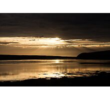 Sunset On Chesil Beach.. Photographic Print