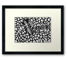 253 - SPIDER - DAVE EDWARDS - INK - 2014 Framed Print