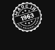 MADE IN 1963 ALL ORIGINAL PARTS Womens Fitted T-Shirt