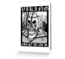 Viking Metal Greeting Card