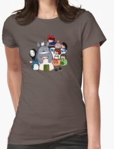 funny ghibli full colour Womens Fitted T-Shirt