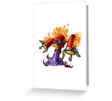 Hotfoot the fluxbot Greeting Card
