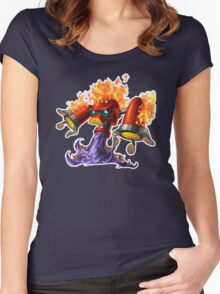 Hotfoot the fluxbot Women's Fitted Scoop T-Shirt