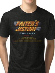 Fighter's History - Title Screen Spoof Tri-blend T-Shirt