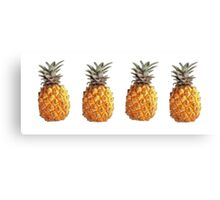 4 Pineapples Canvas Print