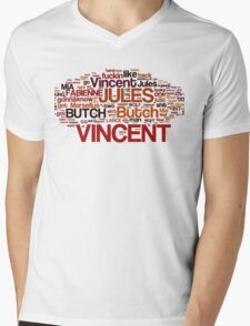 Pulp Fiction Poster Mens V-Neck T-Shirt