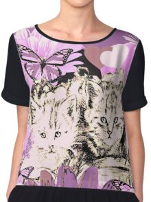 Frieda's Baby Cats in Pink Chiffon Top