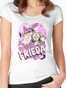 Frieda's Baby Cats in Pink Women's Fitted Scoop T-Shirt