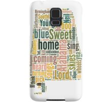 Sweet Home Alabama Map Typography Samsung Galaxy Case/Skin