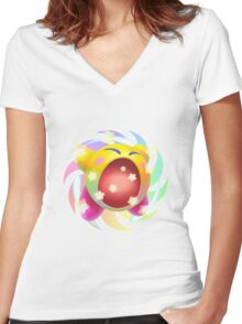 Rainbow Kirby - Kirby Women's Fitted V-Neck T-Shirt