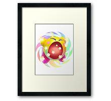 Rainbow Kirby - Kirby Framed Print