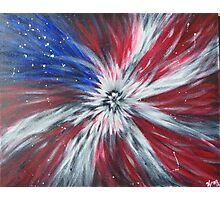 Starburst Flag Photographic Print