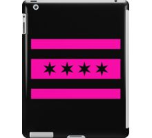 Chicago Flag - Pink and Black v.2 iPad Case/Skin