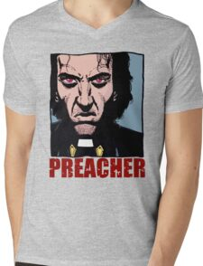 Preacher is mad Mens V-Neck T-Shirt