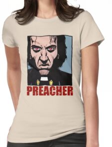 Preacher is mad Womens Fitted T-Shirt