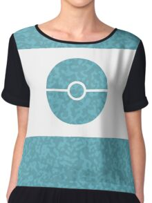 Pokemon CAMO Blue Chiffon Top