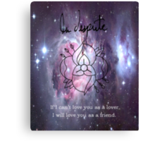 A universe of La Dispute Canvas Print