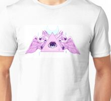 Pink Illuminati Triangle Unisex T-Shirt