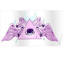 Pink Illuminati Triangle Poster