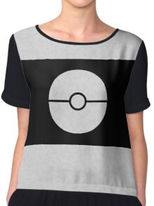 Pokemon CAMO White Chiffon Top