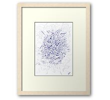 0103 - Blue Berry Framed Print