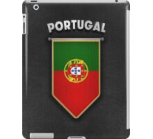 Portugal Pennant with high quality leather look iPad Case/Skin