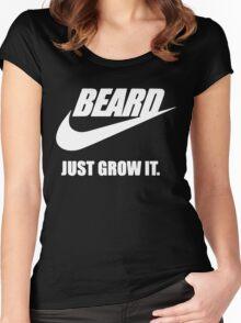 Beard Just Grow It Women's Fitted Scoop T-Shirt