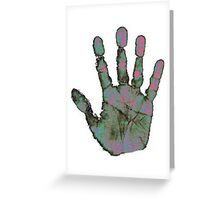 Heatmap Handprint Greeting Card