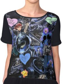 Mass Effect - Garrus Vakarian Collage Chiffon Top