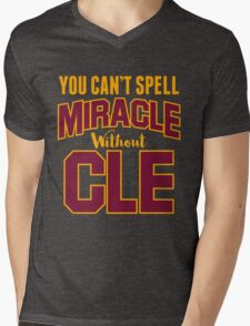You can't Spell Miracle without CLE Mens V-Neck T-Shirt