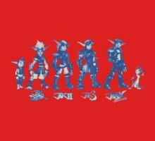 Jak and Daxter Saga - Blue Sketch Kids Tee