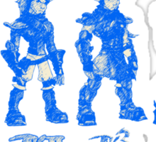 Jak and Daxter Saga - Blue Sketch Sticker