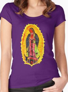 Lady of Guadalupe mural Women's Fitted Scoop T-Shirt
