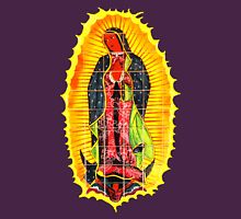 Lady of Guadalupe mural Womens Fitted T-Shirt