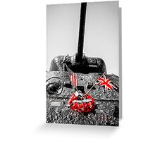 Slapton Sands Memorial Sherman Greeting Card