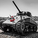 Sherman Tank at Slapton Sands by Chris L Smith