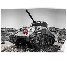 Sherman Tank at Slapton Sands Poster