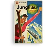 Switzerland Jungfrau Region Vintage Travel Poster Canvas Print